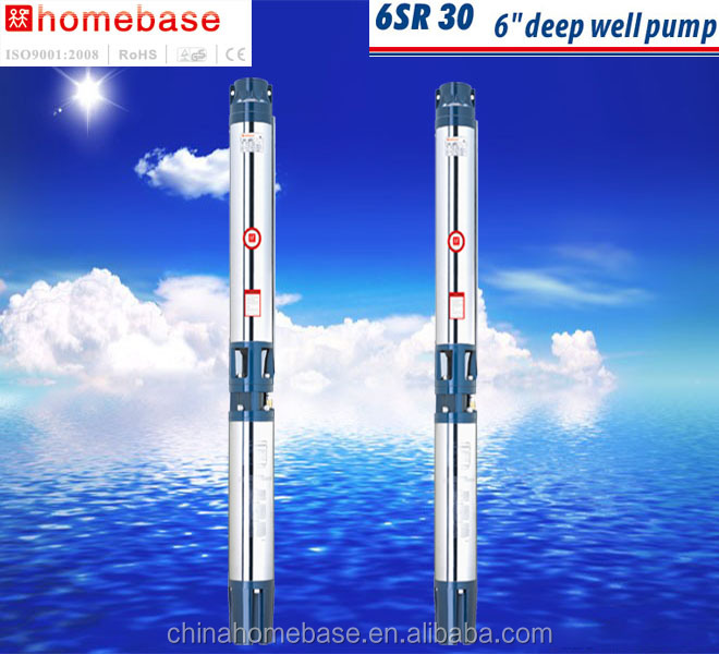 6inch SR30 series CHINA manufacturer large flow 15hp submersible pump,deep well pump