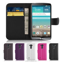 Book Wallet PU Leather Flip Case and Screen Protector For LG G3