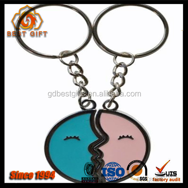 couple kissing moon printed insert wholesale keychain