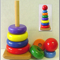 Baby Stacking Rings Eco Friendly Natural Wood Toy
