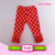 Icings Triple Ruffle Leggings Cotton Girls pants printed red stars American capris baby knit newborn pants kid baby icing ruffle