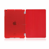 Detachable Rubberized Hard Smart Cover And Back Case for iPad 2 3 4 Air Mini Pro case, red