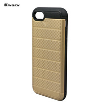 2017 Hard PC 2 in one back cover case factory price high quality Combo hybrid cell phone for gold