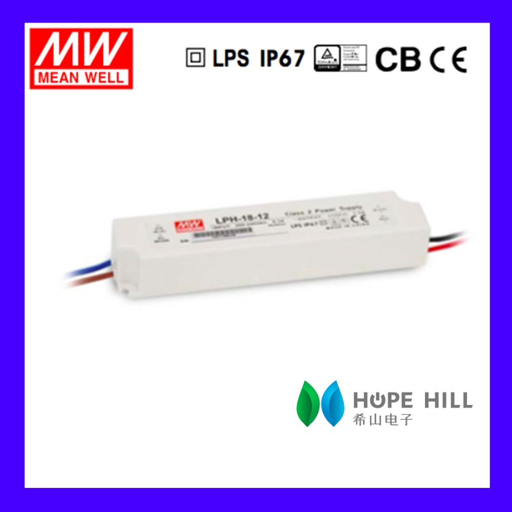 Original MEAN WELL LPH-18-36 Model 36V single output led driver smps