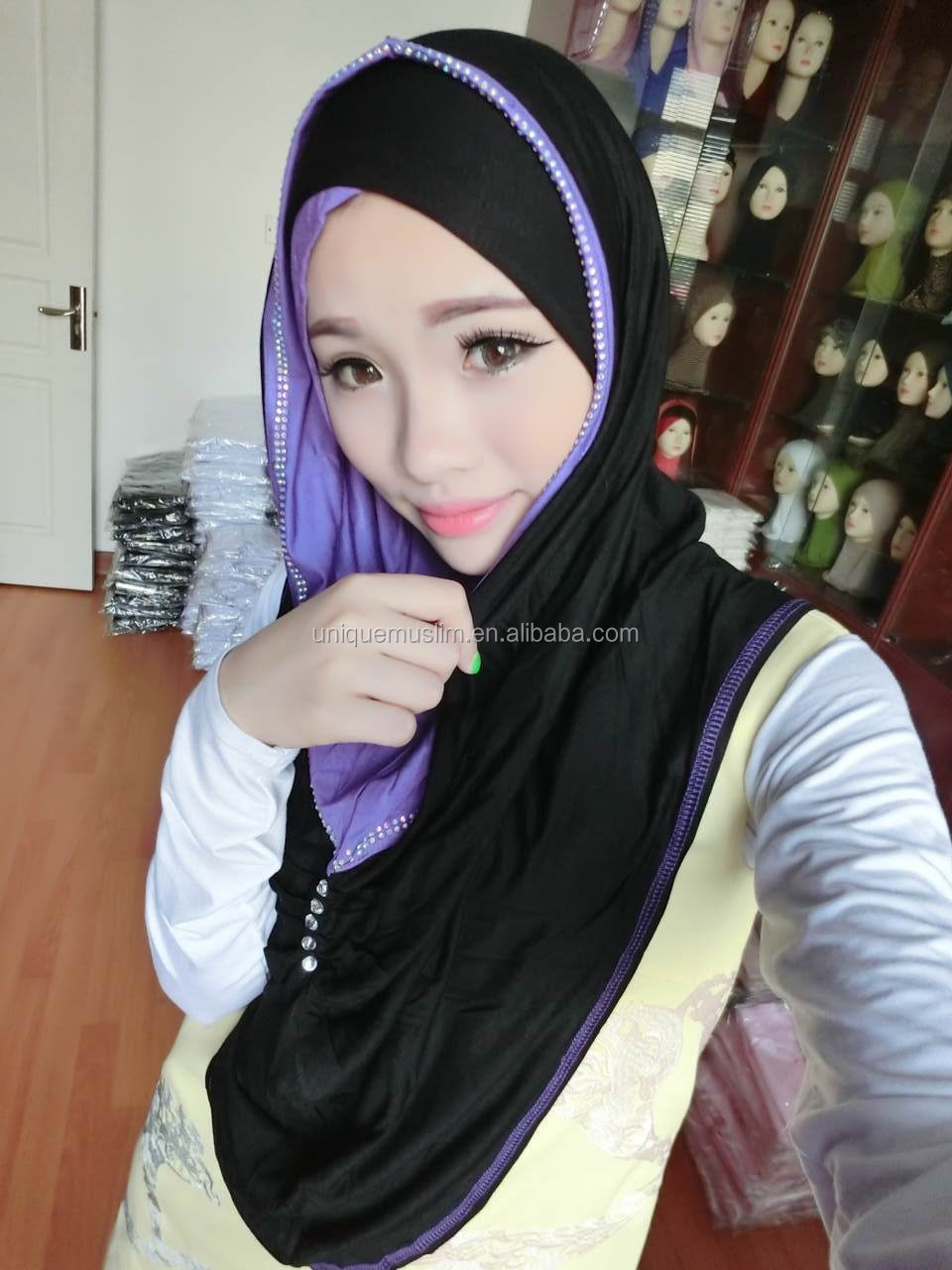H228 popular muslim jersey hijab,big size long hijab