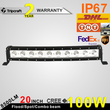 High Performance Spot Flood Beam 8500LM 20 Inch 100w Crees Led Light Bar