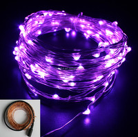 DC Power LED Violet Patio String Lights Party Lights