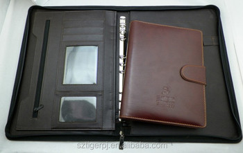 2014 hot selling leather portfolio with best materials