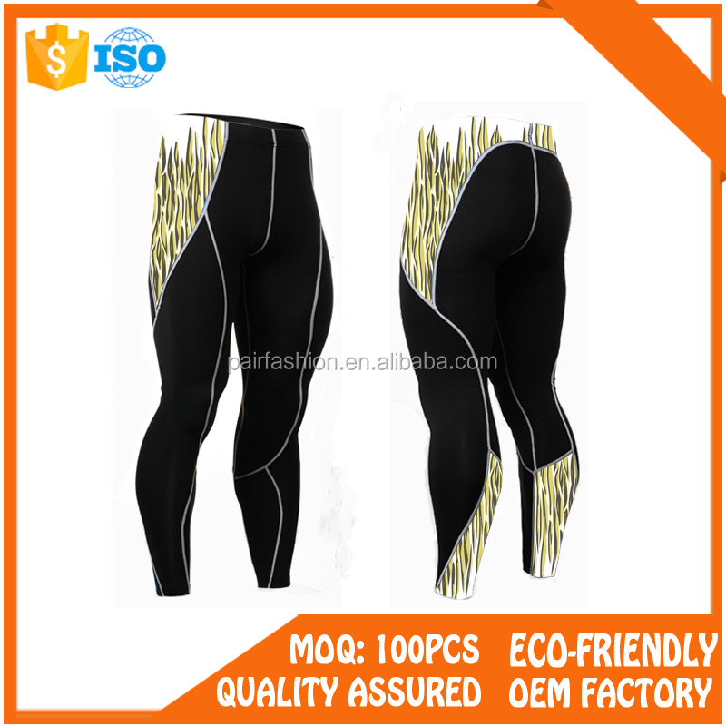 OEM service compression wear yoga wear pants with fitness pants men, men ski pants design