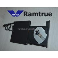 New USB 2.0 External Slim CD RW DVD ROM CD-R/RW CD-TEXT Combo Drive Black US