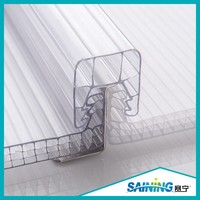 Transparent Four Wall Rectangular Structure U-lock Multi-wall Structure PC Polycarbonate Hollow Sheet