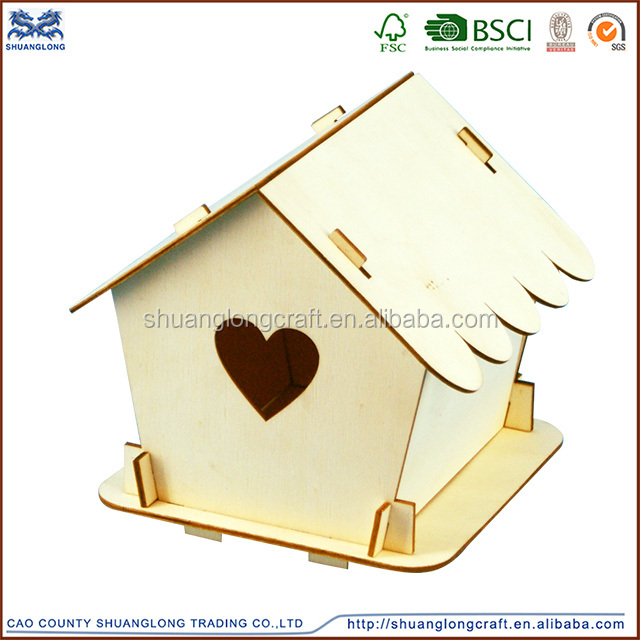 europe DIY wooden bird house,Wood bird cage pet house