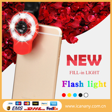 New products 2016 Universal Night Using Enhancing Mobile LED Selfie Flash Light for all Smartphone