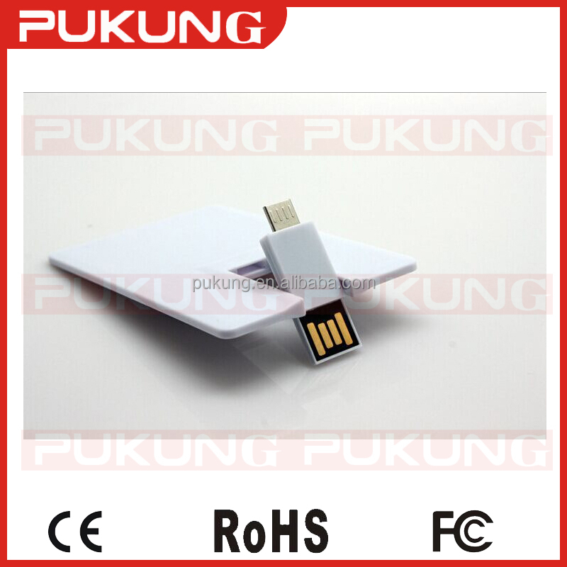 Customized LOGO 8GB16GB USB2.0 plastic business card OTG card usb flash drive for Android and computer