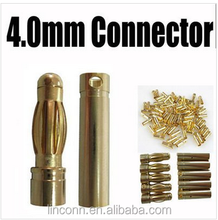 4.00mm 3.5mm 2.00mm female male banana plug gold/nickel plated