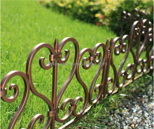 decorative wrought iron metal bamboo rubber effect plastic lawn landscape garden border fence edging
