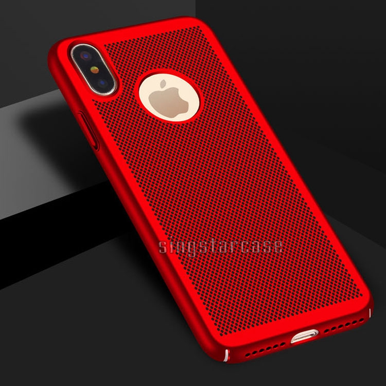 Mesh shell super slim pc heat dissipation phone case for iphone x hard case,for iphone 10 case luxury
