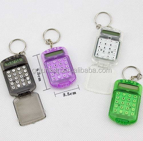Cute mini pocket keyring calculator