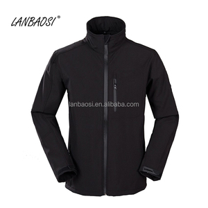 Wholesale Men's Windproof Water Resistant Breathable Softshell Jacket