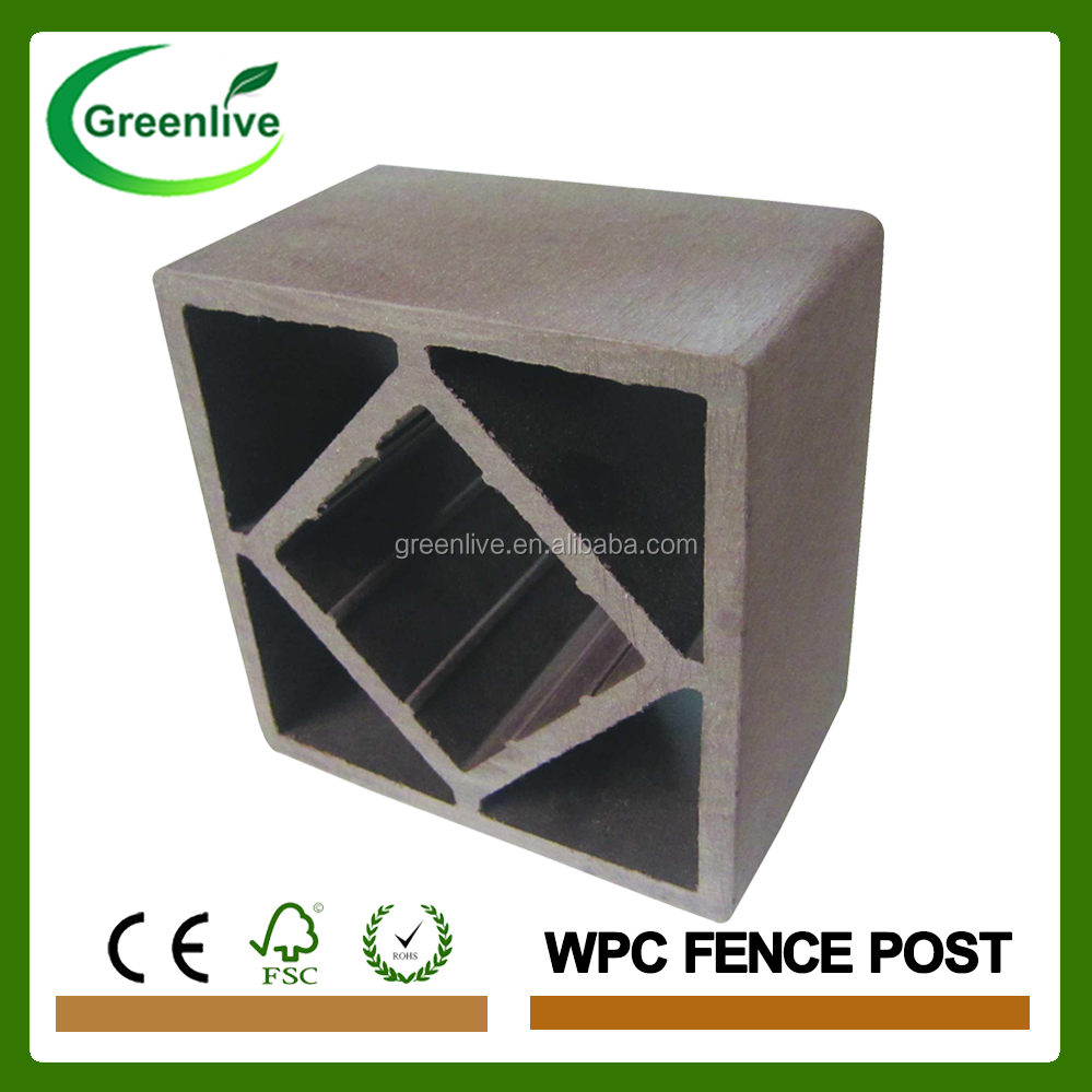 Free sample outdoor wood plastic composite post WPC post for Fence