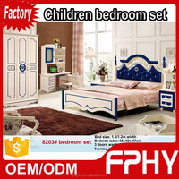 Factory supply 82 series Kids Bedroom Set MDF malaysia rubber wood furniture
