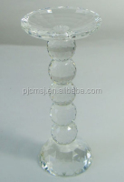 clear crystal candle holder with bead shape stem for home decorative and gifts