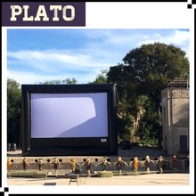 giant inflatable projection movie screen for outdoor event