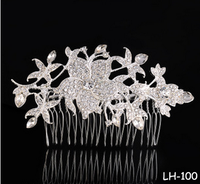 The bride wedding dress handmade ornaments headdress Fashion exquisite diamond crystal dish hair comb