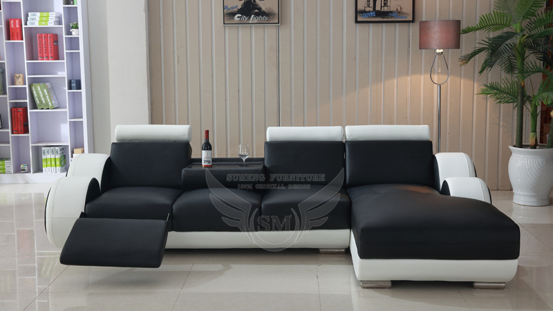 Best selling small l shape recliner sofa cheers leather for L shaped couch name