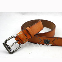 Popular custom name leather belts with rivet