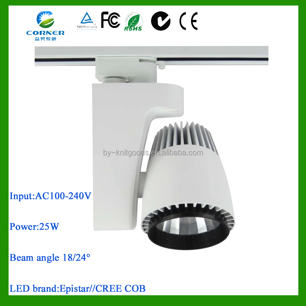CE ROHS certified 25w high power AC100-240V ALUMINUM led <strong>spotlight</strong> price