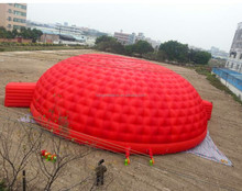 Factory direct sale red large inflatable tent for camping/party/advertising