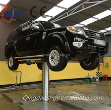 Pneumatic and hydraulic single post car lift, single post car lift in ground