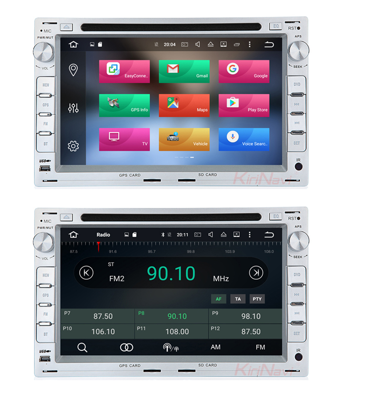 KiriNavi WC-VU7009 8 core android 6.0 stereo for vw passat b5 white car radio media dvd player 1999 - 2005 BT gps 3g TV