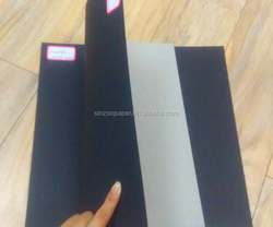 Top quality dark black board 400gsm in ream black board for photo album