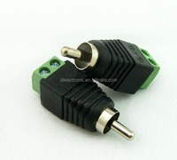 green RCA connector RCA to dc connector