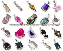 .925 Sterling Silver Semi Precious Gemstone Fashion Pendants