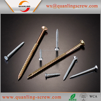Hot sell delicate multicolor countersunk head stainless steel chipboard screw