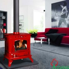 Enamel Italian cast iron coal stoves