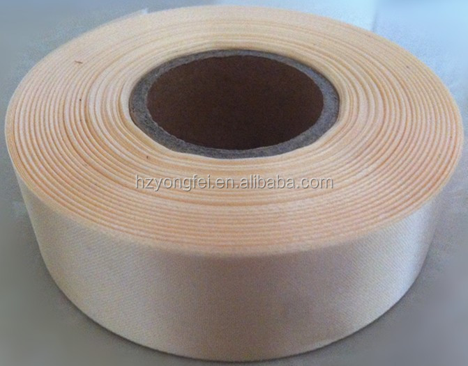 Beige Color Thermal Transfer Polyester Satin Ribbon