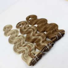 weave clip-in indian human hair extension straight /weave/curly/yaki/ombre