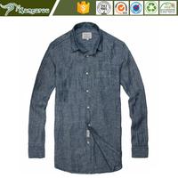 100% linen mens' comfortable pure linen men shirt