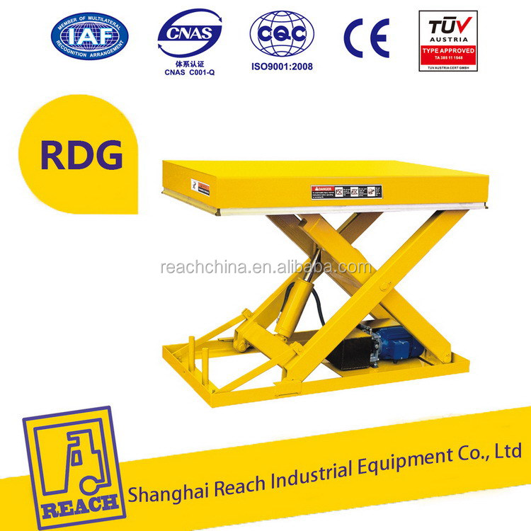 Super quality hot product hydraulic scissor fixed platform lift