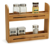 Hot selling high quality decorative bamboo wall hanging spice rack on sale