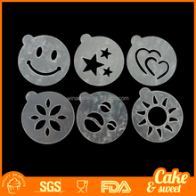 Cappuccino coffee stencil design cake decorating stencils cake stencil