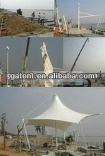 Carport sunshade membrane structure, tensile membrane shade structure