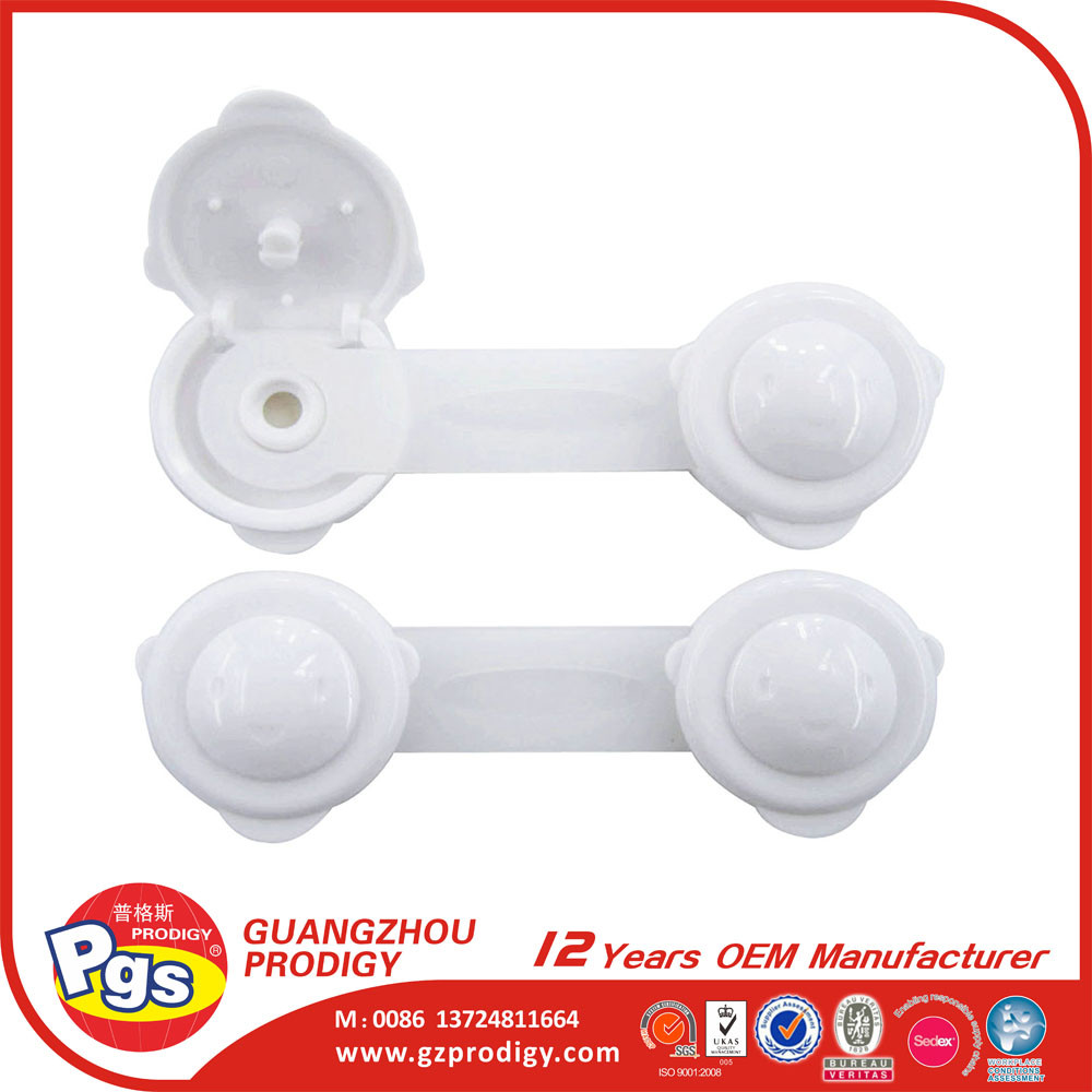 Durable plastic child safety cabinet latches