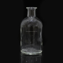 250ml transparent aroma reed diffuser glass bottle with cork sealing