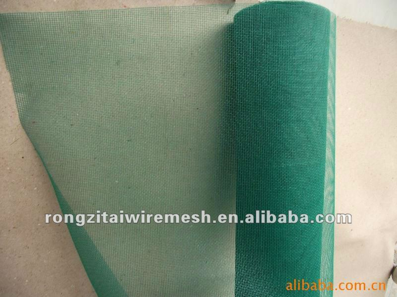 green color fiberglass window insect screen