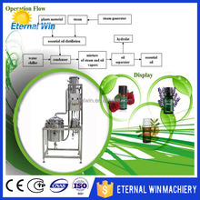 HOT SALE essential aromatic oils distiller steam distillation unit